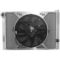 "Cooling & Heating - C&R Racing - C&R Racing Universal Double Pass Radiator Module - Open - 31"" x 19"" - 1-3/4"" Depth - SPAL 16"" Fan & Relay - RH Inlet / RH Outlet"