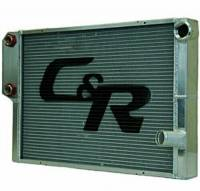 "C&R Racing - C&R Racing Double Pass Radiator w/ Heat Exchanger - Open - 28 x 19? - 1-3/4"" Depth Low Outlet - LH Inlet / RH Outlet"