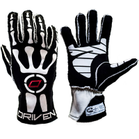 Driven Steering Wheels - Driven Skeleton Gloves - Black - X-Large