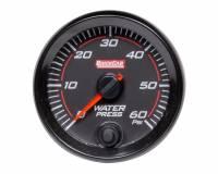 "Analog Gauges - Water Pressure Gauges - QuickCar Racing Products - QuickCar Redline Water Pressure Gauge - 0-60 psi - Electric - Analog - 2-5/8"" - Black Face - Kit"