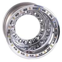 "Weld Wide 5 HS Beadlock Wheels - Weld Wide 5 HS Beadlock 15"" x 14"" - Weld Racing - Weld HS Wide 5 Modified Wheel - 15' x 14"" - 5"" Back Spacing - Aluminum - Polished - Outer Bead-Loc"