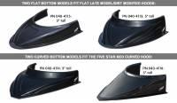 "Body & Exterior - Hood Scoops, Deflectors - Five Star Race Car Bodies - Five Star MD3 Hood Scoop - 3"" Tall - Curved - Carbon Fiber Look"