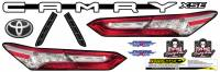 Decals, Graphics - Camry Decals - Five Star Race Car Bodies - Five Star 2019 Late Model Toyota Camry Tail ID Kit