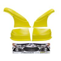 MD3 Nose & Fender Combo Kits - Fusion MD3 Combo Kits - Five Star Race Car Bodies - Five Star 2013 Ford Fusion MD3 Complete Nose and Fender Combo Kit -Yellow (Older Style)