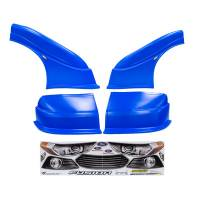 MD3 Nose & Fender Combo Kits - Fusion MD3 Combo Kits - Five Star Race Car Bodies - Five Star 2013 Ford Fusion MD3 Complete Nose and Fender Combo Kit - Newer Style -Chevron Blue