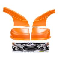 MD3 Nose & Fender Combo Kits - Fusion MD3 Combo Kits - Five Star Race Car Bodies - Five Star 2013 Ford Fusion MD3 Complete Nose and Fender Combo Kit - Newer Style -Chevron Orange