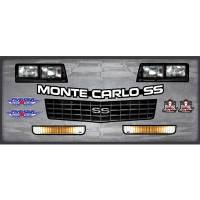 Decals, Graphics - Chevrolet Monte Carlo Decals - Five Star Race Car Bodies - Five Star 1988 Chevrolet Monte Carlo SS Nose Only Graphics Kit