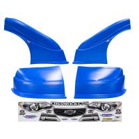 MD3 Nose & Fender Combo Kits - Chevy SS MD3 Combo Kits - Five Star Race Car Bodies - Five Star Chevy SS MD3 Complete Nose and Fender Combo Kit - Chevron Blue (Newer Style)