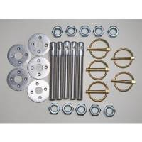 "Body Hardware and Fasteners - Hood Pin Kits - Five Star Race Car Bodies - Five Star Hood Pin Kit (5 Pack) - 1/2"" Aluminum Pins"