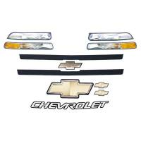 Decals, Graphics - Circle Track Truck Decals - Five Star Race Car Bodies - Five Star 2002 Chevy C1500 Nose Only Graphics Kit