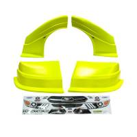 MD3 Nose & Fender Combo Kits - Mustang MD3 Combo Kits - Five Star Race Car Bodies - Fivestar MD3 Evolution Nose and Fender Combo Kit - Mustang - Yellow