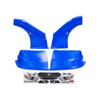 Five Star Race Car Bodies - Fivestar MD3 Evolution Nose and Fender Combo Kit - Mustang - Chevron Blue (Flat RS Fender) - Image 1