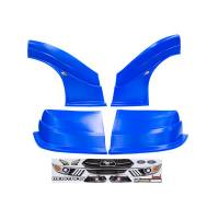 MD3 Nose & Fender Combo Kits - Mustang MD3 Combo Kits - Five Star Race Car Bodies - Fivestar MD3 Evolution Nose and Fender Combo Kit - Mustang - Chevron Blue