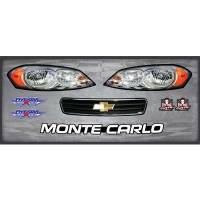 Decals, Graphics - Chevrolet Monte Carlo Decals - Five Star Race Car Bodies - Five Star Chevrolet Monte Carlo Nose Only Graphics Kit