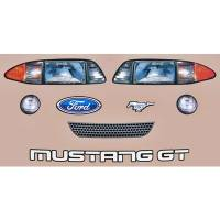 Decals, Graphics - Ford Mustang Decals - Five Star Race Car Bodies - Five Star 1993 Mustang Mini-Stock Nose ID Graphics Kit