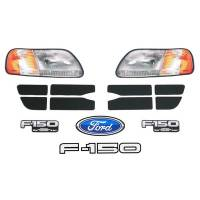 Decals, Graphics - Circle Track Truck Decals - Five Star Race Car Bodies - Five Star 2002 Ford F-150 Nose Only ID Kit