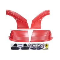 MD3 Nose & Fender Combo Kits - Ferrari MD3 Combo Kits - Five Star Race Car Bodies - MD3 Evolution Complete Combo Kit - Ferrari - Red
