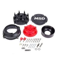 Magneto Parts & Accessories - Magneto Cap and Rotor Kits - MSD - MSD Pro-Cap Cap-A-Dapt Kit - Black - Fits Band Clamp Pro Mags