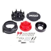 Magnetos Parts & Accessories - Magneto Caps & Rotors - MSD - MSD Pro-Cap Cap-A-Dapt Kit - Black - Fits Band Clamp Pro Mags