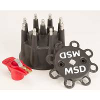 "Magneto Parts & Accessories - Magneto Cap and Rotor Kits - MSD - MSD Replacement Cap and Rotor for Pro Mag - 4"" Cap - Black"