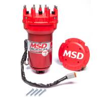 Ignition System, Magnetos - Magnetos - MSD - MSD Pro Mag 44 Amp Generator - CCW Rotation - Red - Pro Cap - Band Clamp