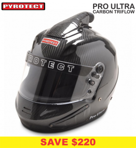 Helmets - Shop All Full Face Helmets - Pyrotect Pro Ultra Triflow Carbon Helmets - SALE $859 - SAVE $220