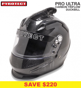 Helmets - Shop All Full Face Helmets - Pyrotect Pro Ultra Triflow Carbon Duckbill Helmets - SALE $879 - SAVE $220