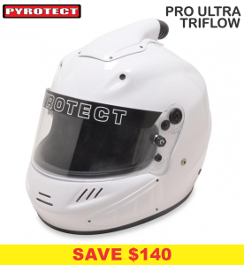 Helmets - Shop All Full Face Helmets - Pyrotect Pro Ultra Triflow Helmets - SALE $539 - SAVE $140