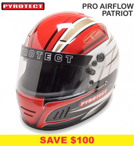 Helmets - Shop All Full Face Helmets - Pyrotect Pro Airflow Patriot Graphic Helmets - SALE $379 - SAVE $100
