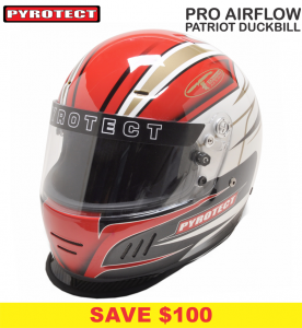 Helmets - Pyrotect Helmets - Pyrotect Pro Airflow Patriot Graphic Duckbill Helmet - SALE $399 - SAVE $100