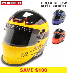 Helmets - Shop All Full Face Helmets - Pyrotect Pro Airflow Rebel Graphic Duckbill Helmets - SALE $399 - SAVE $100