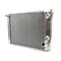 "Cooling & Heating - Howe Racing Enterprises - Howe Crossflow Aluminum Radiator w/ Heat Exchanger -16AN Inlet - 19"" x 27"" x 3"" - Chevy Style"