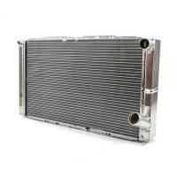 "Howe Radiators - Howe Dual Pass Aluminum Radiators - Howe Racing Enterprises - Howe Double Pass Aluminum Radiator w/ No Filler - Right Side - 16"" x 27-1/2"" x 3"" - Chevy Style"