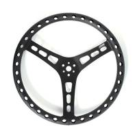 "Steering Components - Joes Racing Products - JOES Lightweight Aluminum 15"" Steering Wheel - 2-1/2"" Dish - Black"