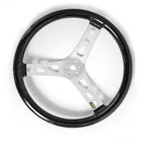 "Steering Wheels - Aluminum Competition Steering Wheels - Joes Racing Products - JOES 15"" Dished Steering Wheel - Black Coated"
