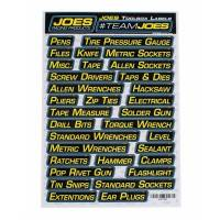 Tools & Pit Equipment - Pit Carts and Components - Joes Racing Products - Joes Labels Toolbox