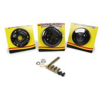 Power Steering Pulleys - Serpentine Power Steering Pulleys - KRC Power Steering - KRC Pro Series Serpentine Pulley Kit 15% Water Pump Reduction - SB Chevy w/ Block Mounted Pump