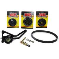 Power Steering Pulleys - Serpentine Power Steering Pulleys - KRC Power Steering - KRC Pro Series Water Pump Drive Kit 15% Water Pump Reduction - SB Chevy