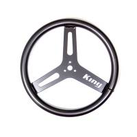 "Mini / Micro Sprint Steering - Mini Sprint Steering Wheels - King Racing Products - King Big Tube Aluminum Steering Wheel (Black) - 15"" Diameter"