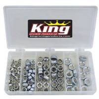 Hardware and Fasteners - King Racing Products - King 105-Piece Steel Nyloc 1/2 Nut Kit