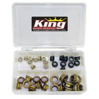 Nuts - Nuts (Mechanical Lock) - King Racing Products - King 40-Piece Jet Nut Kit
