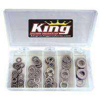 "Sprint Car & Open Wheel - King Racing Products - King .030"" Stainless Washer Kit"