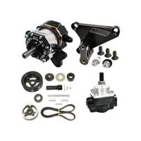 Power Steering Pumps - Tandem Power Steering / Fuel Pumps - KSE Racing Products - KSE Belt Drive TandemX Pump - SBC Crate Kit