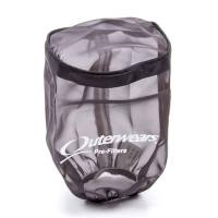 "Sprint Car & Open Wheel - Outerwears Performance Products - Outerwears Breather Pre-Filter w/ Top - Black - 3-1/2"" Diameter x 6"" Tall"