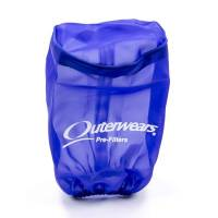 "Sprint Car & Open Wheel - Outerwears Performance Products - Outerwears Breather Pre-Filter w/ Top - Blue - 3-1/2"" Diameter x 6"" Tall"