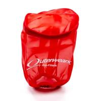 "Sprint Car & Open Wheel - Outerwears Performance Products - Outerwears Breather Pre-Filter w/ Top - Red - 3-1/2"" Diameter x 6"" Tall"