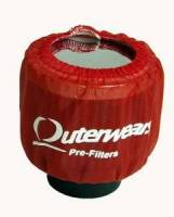 """Outerwears Performance Products - Outerwears 3"""" Non-Shielded Crank Breather Pre-Filter w/o Top - Red - Image 2"""
