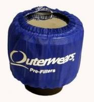 "Outerwears Performance Products - Outerwears 3"" Shielded Crank Breather Pre-Filter w/o Top - Blue - Image 2"