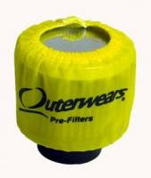 "Outerwears Performance Products - Outerwears 3"" Breather w/Shield Pre-Filter - Yellow - Image 2"