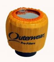 "Outerwears Performance Products - Outerwears 3"" Shielded Crank Breather Pre-Filter w/o Top - Orange - Image 2"